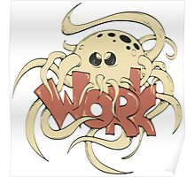 octopus entwine word work Poster