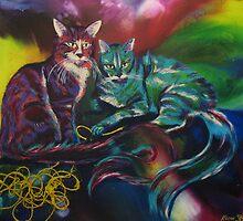 Flemington & Solomon (Cats) by Kieran  Sturgeon