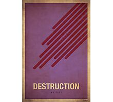 Destruction Warlock - WoW Minimalism Photographic Print