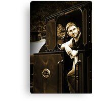 Historic Fireman on the Talyllyn Railway Canvas Print