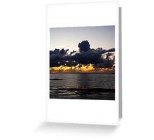 Sunset sea Greeting Card