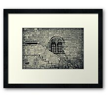Old Italian window with stairs Framed Print