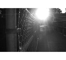 Sunlight Chainlink Fence Photographic Print