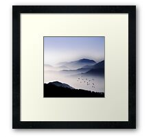 Flying Over The Fog Framed Print