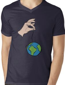 """So you think you can hold the world up by a string"" Mens V-Neck T-Shirt"