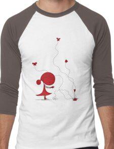 little red girl  Men's Baseball ¾ T-Shirt