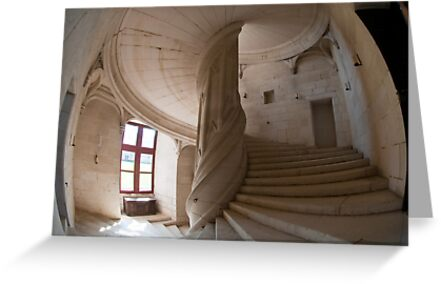 Chateau de la Rochefoucauld Stairway I by Chris Tarling
