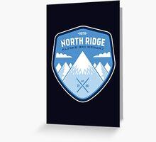 North Ridge Skiing Greeting Card