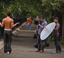 Calvin Klein Photo Shoot----Central Park New York by milton ginos