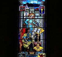 Dornoch Cathedral Glass 1 by WatscapePhoto