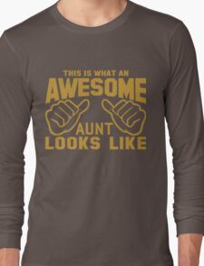 This is What an Awesome Aunt Looks Like Retro Long Sleeve T-Shirt