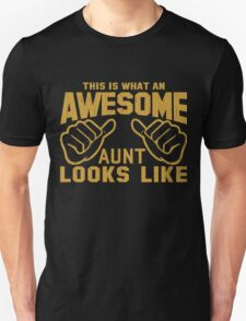 This is What an Awesome Aunt Looks Like Retro Unisex T-Shirt