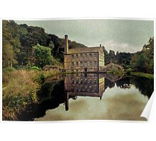Gibson Mill ( Scene of a Mill Pond ) Poster