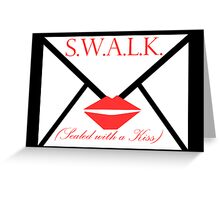 Sealed with a Kiss Valentine Card Greeting Card
