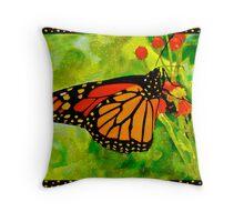 Polkadot Butterfly Throw Pillow