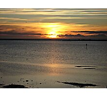 Sunset over the Mediterranean Sea Photographic Print