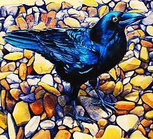 Glossy Blue-Black Raven by Heidi Cooper Smith