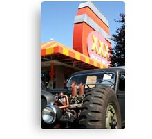 Six Pack Rat Rod Loves RootBeer Canvas Print