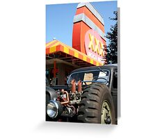 Six Pack Rat Rod Loves RootBeer Greeting Card