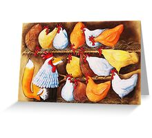 Fox in the Hen House Greeting Card