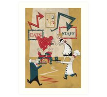 Cats Have Staff Art Print