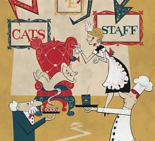 Cats Have Staff by paulinemman