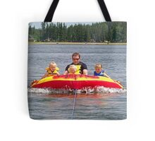 Riding The Towable With Uncle Cam Tote Bag
