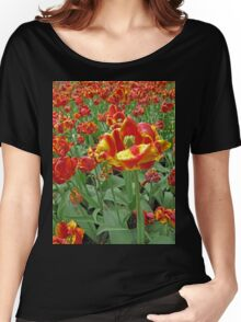 Yellow and Red Tulips photograph Women's Relaxed Fit T-Shirt