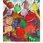 Twenty Four dinosaurs by Stilly