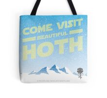 Hoth travel poster Tote Bag