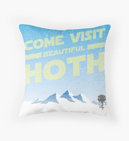 Hoth travel poster Throw Pillow