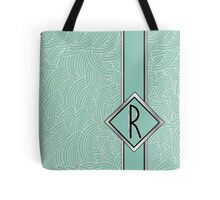 1920s Blue Deco Swing with Monogram letter R Tote Bag