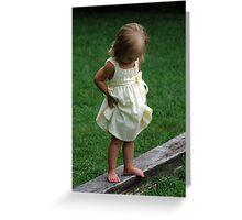 Precious in Yellow Greeting Card