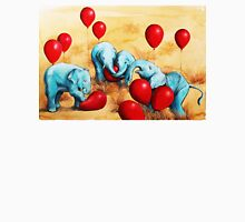 Baby Elephants Love Red Balloons Womens Fitted T-Shirt