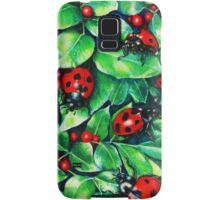 Ladybugs in the Hedge Samsung Galaxy Case/Skin