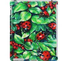 Ladybugs in the Hedge iPad Case/Skin
