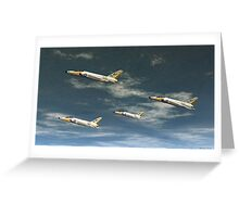 Navy Tigers Greeting Card
