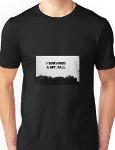 I Survived a 6 ft. Fall Unisex T-Shirt