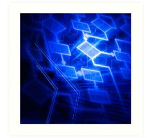Abstract software algorithm flowchart art photo print Art Print