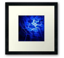 Abstract software algorithm flowchart art photo print Framed Print