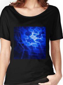 Abstract software algorithm flowchart art photo print Women's Relaxed Fit T-Shirt