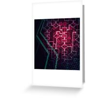 Abstract Algorithm Flowchart Background art photo print Greeting Card