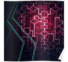 Abstract Algorithm Flowchart Background art photo print Poster
