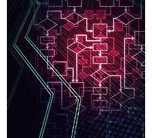 Abstract Algorithm Flowchart Background art photo print Photographic Print