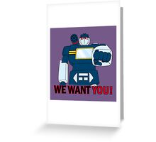 Transformers - We Want You - Decepticons Greeting Card