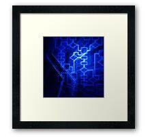 Flowchart algorithm diagram background art photo print Framed Print