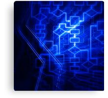 Flowchart algorithm diagram background art photo print Canvas Print
