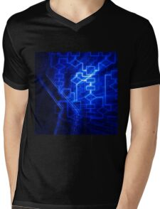 Flowchart algorithm diagram background art photo print Mens V-Neck T-Shirt