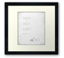 snow falling Framed Print