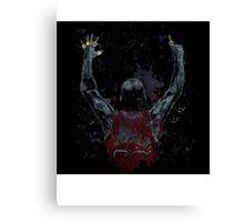 Michael Jordan with rings Canvas Print